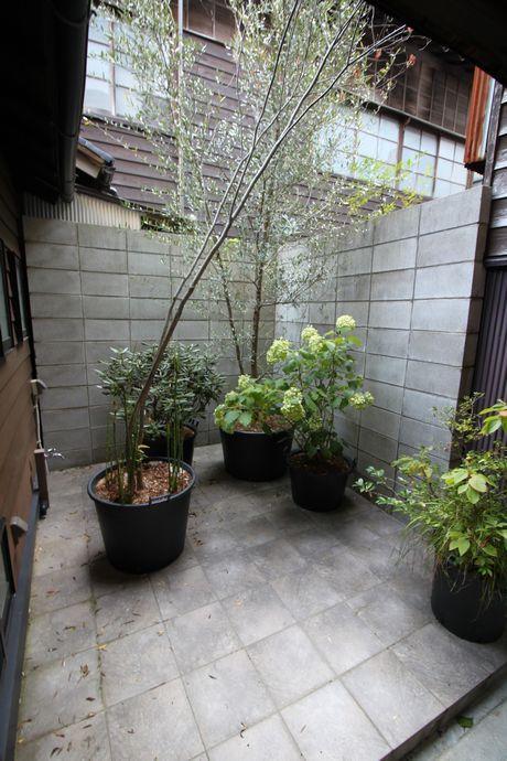植栽アレンジ次第では和に洋にも。
