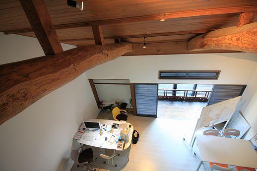 4階屋根裏から見た3階部分。