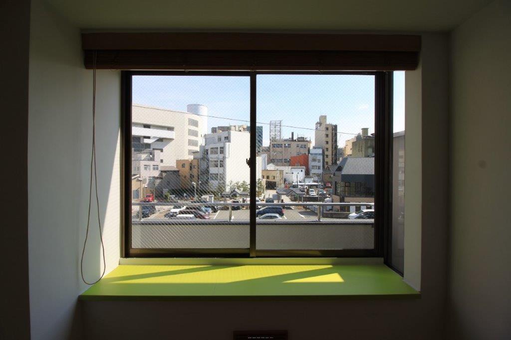 台所の窓からの眺望