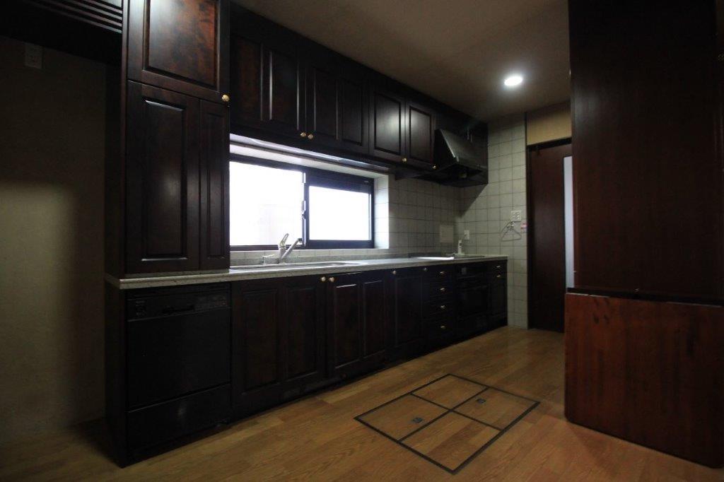 大きなシステムキッチンの台所