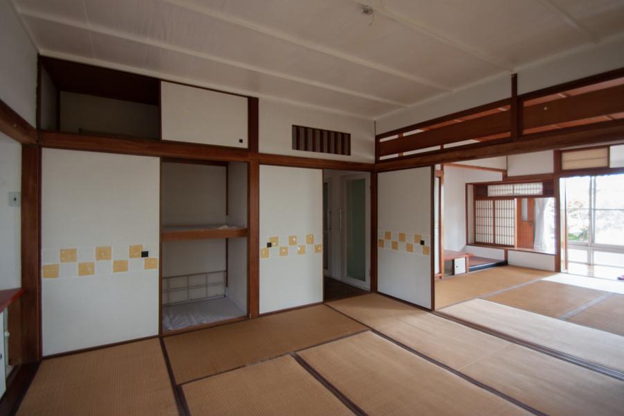 8畳の和室が二間