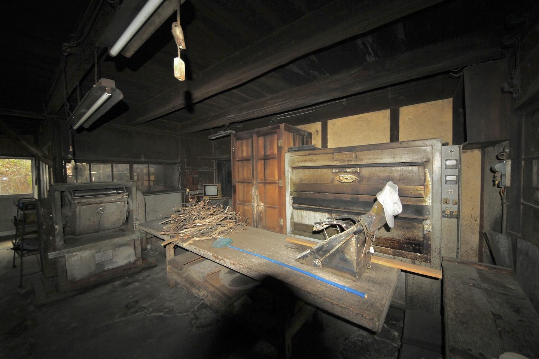 製菓用の機械などが現存