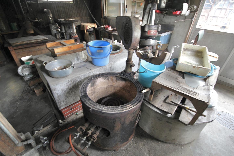 当時の道具と井戸