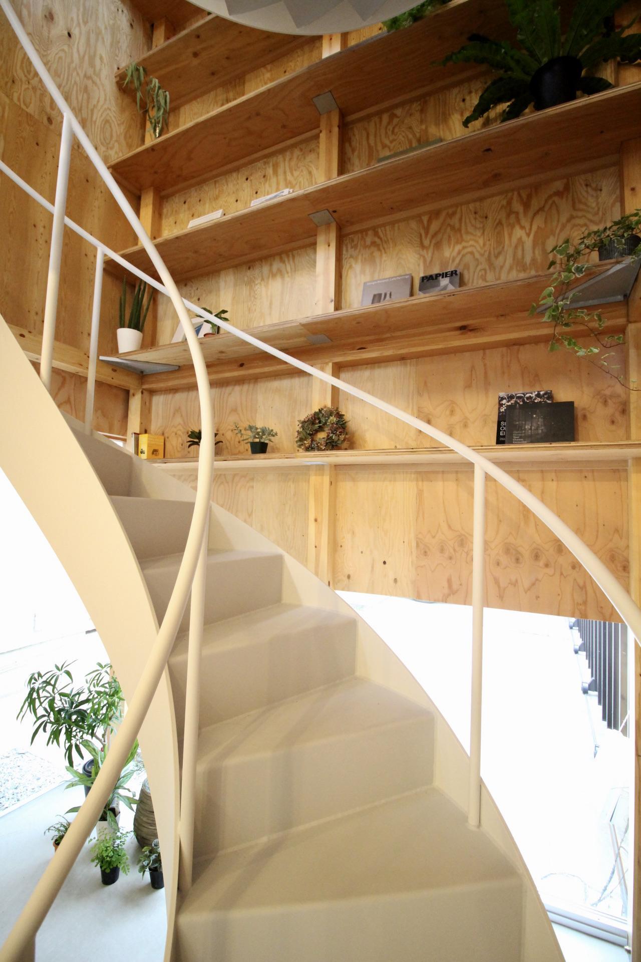 螺旋階段の曲線美