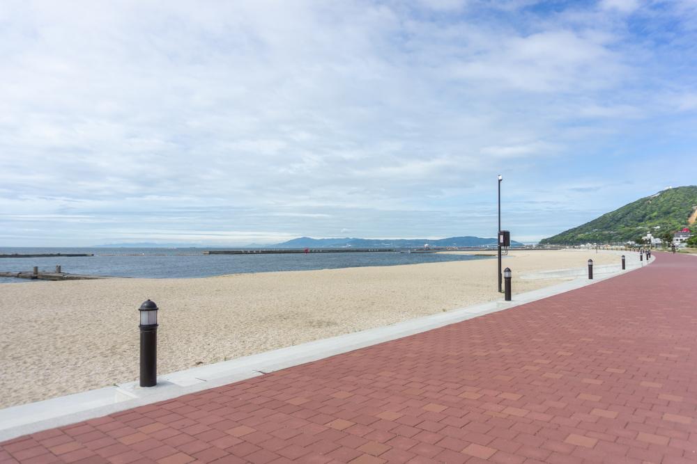 須磨海岸まで散歩で行ける距離感