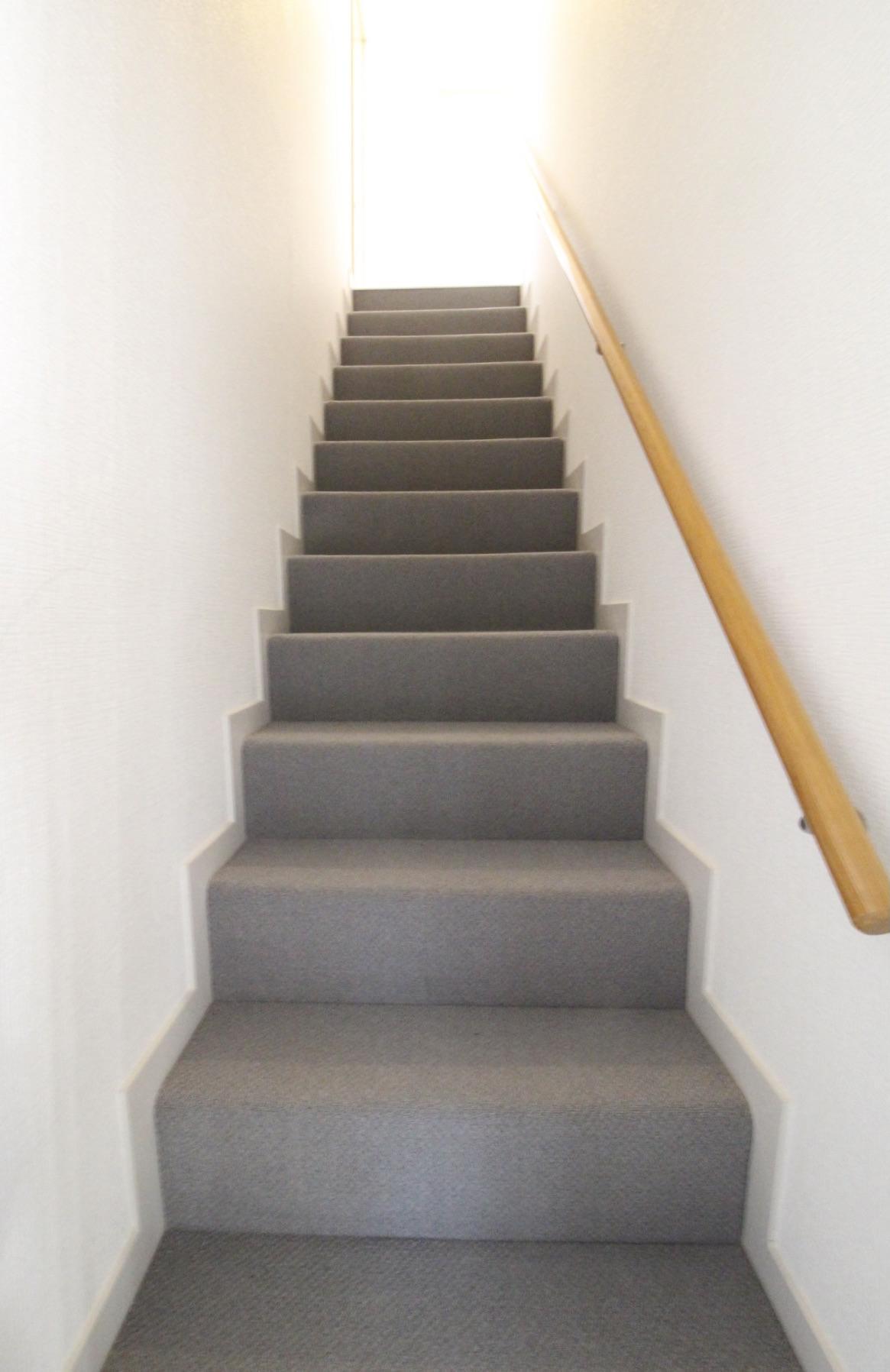 ふかふか絨毯敷きの階段