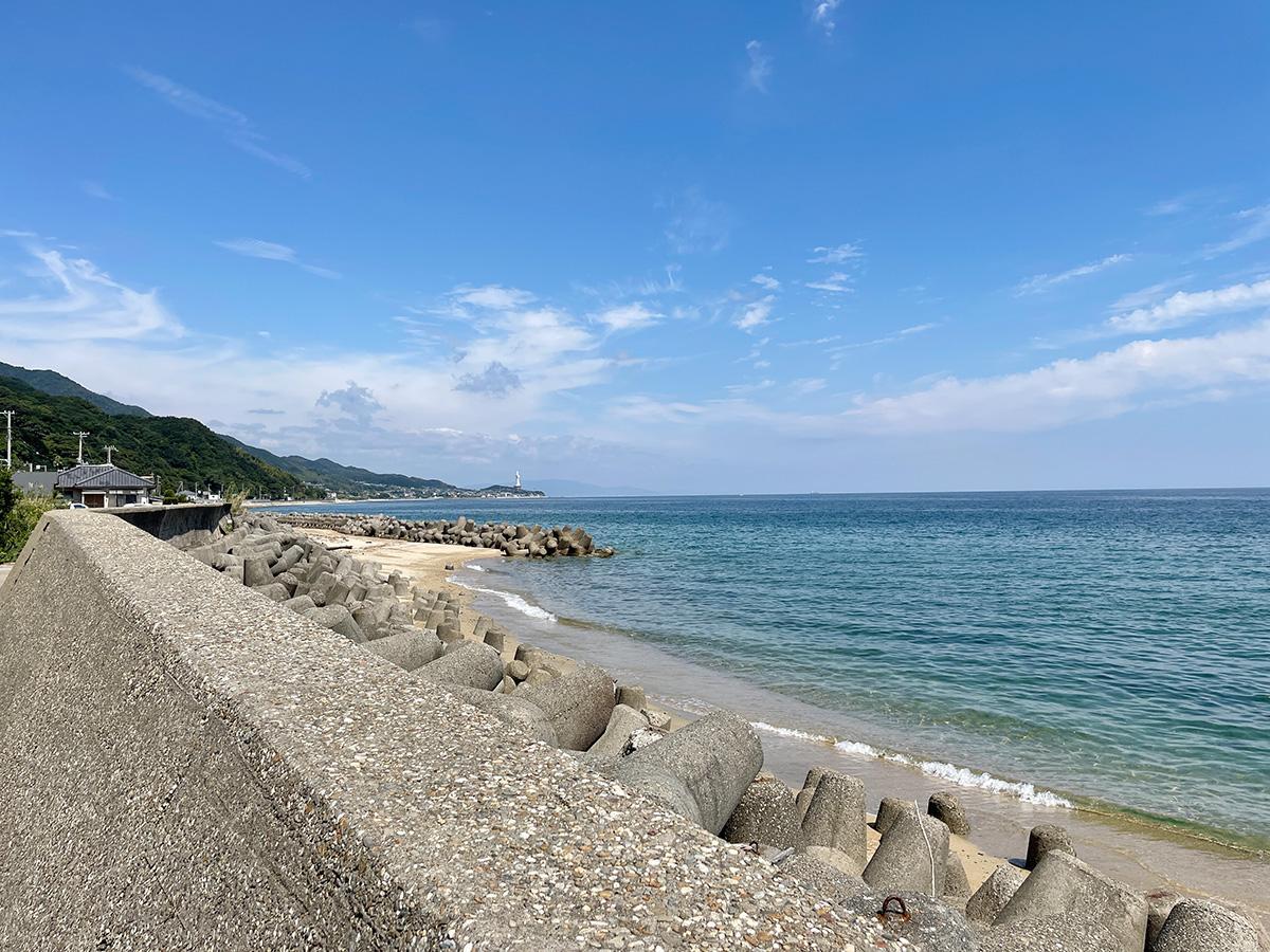 区画前の海