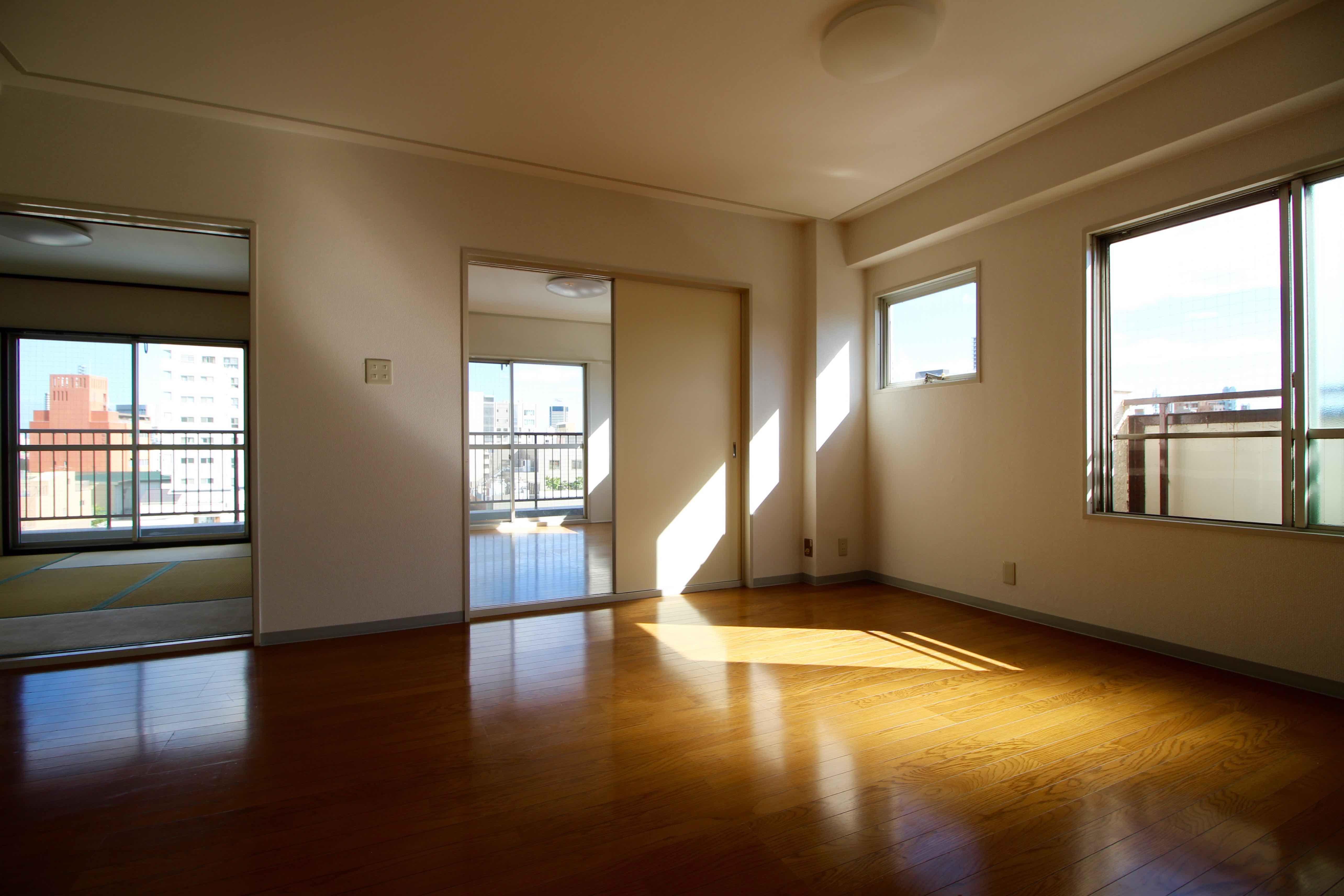 窓が多く、明るくて風通しもいい