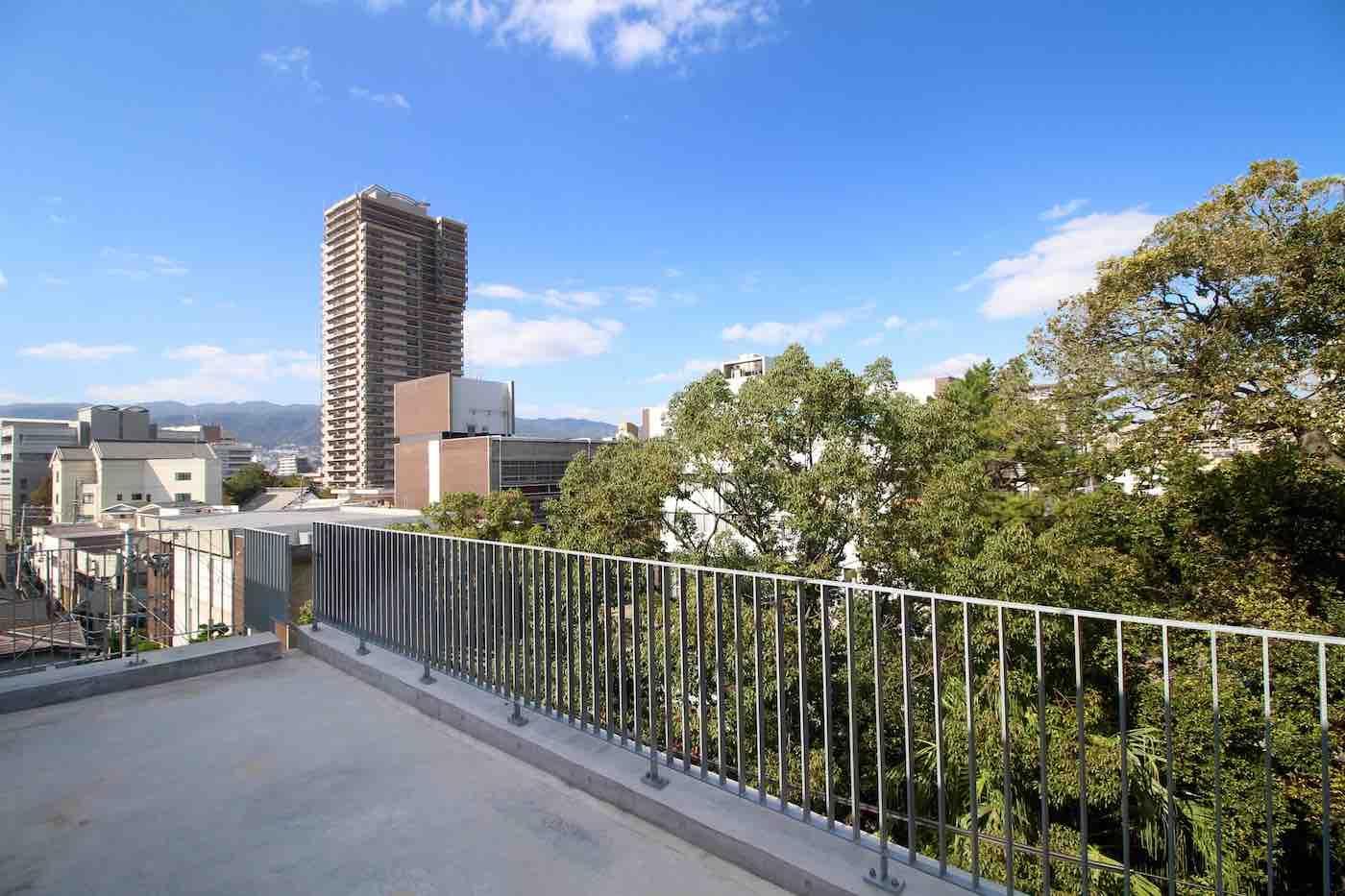 5Fのルーフバルコニーからの眺望