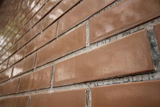 外壁タイル。ツヤツヤの釉薬