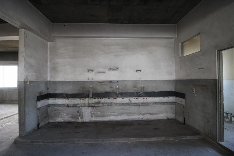 3階部分、水栓跡