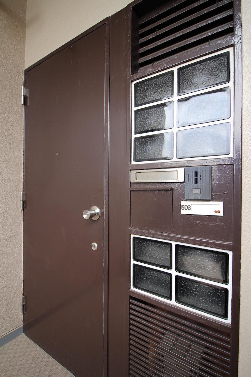 レトロな重厚感のあるドア(503号室)