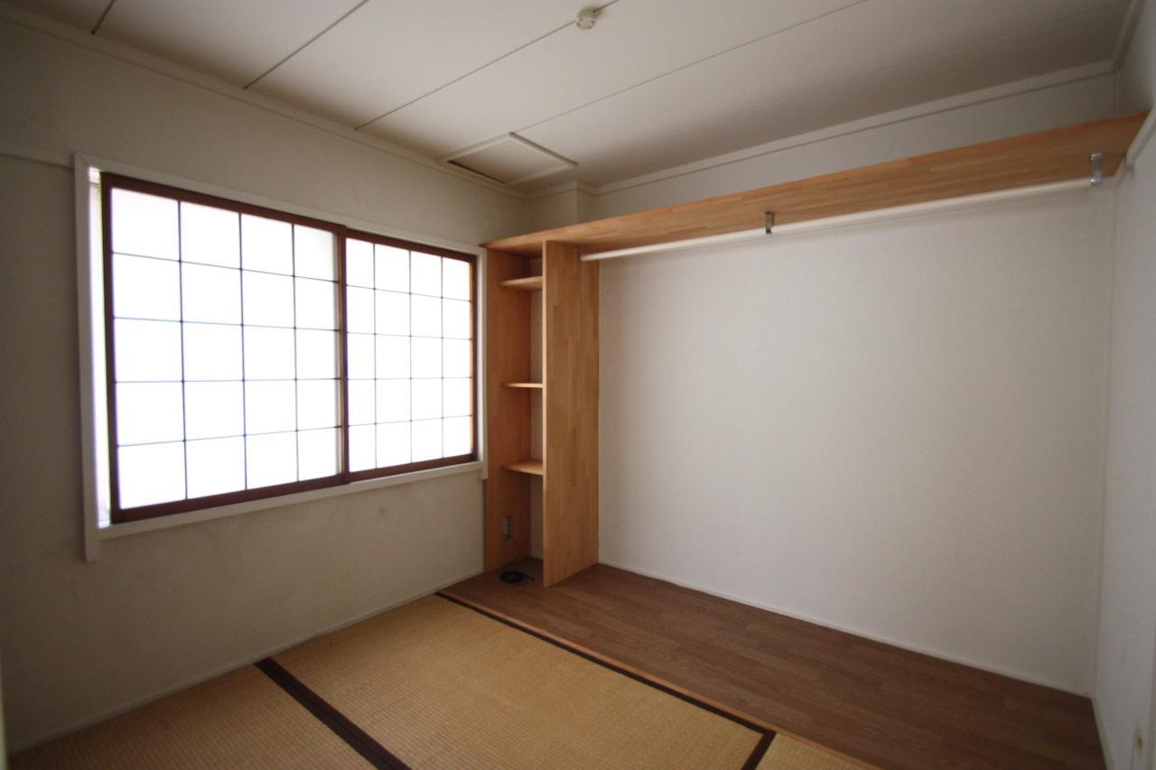 和室にも棚があって便利そう