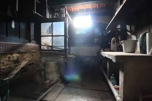 大正時代後期から昭和初期の改装と推察される台所のカマド痕