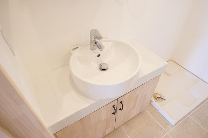 清潔感のある洗面所