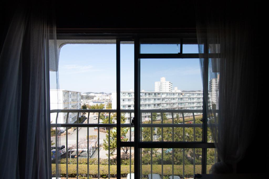 窓から見える団地の景色が好きです