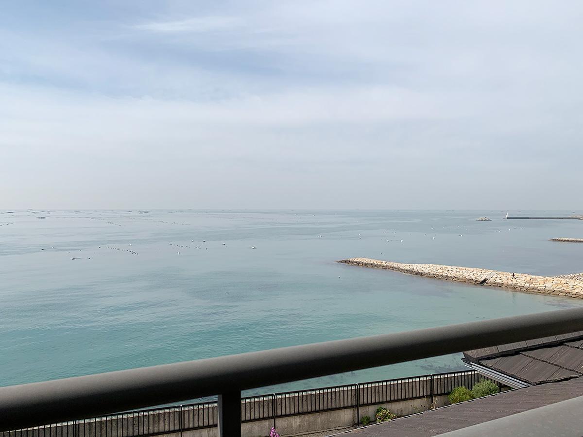バルコニーからこの眺望