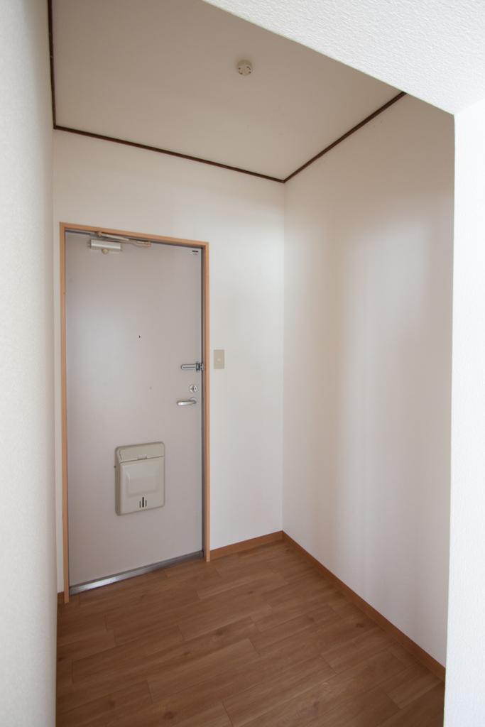 謎の玄関扉の奥の謎の余白空間。納戸として使いましょう