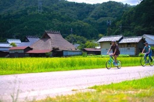 福住の街道をサイクリングで楽しむコンテンツもあるんです。
