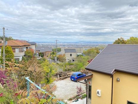 高台からは大阪平野一望。