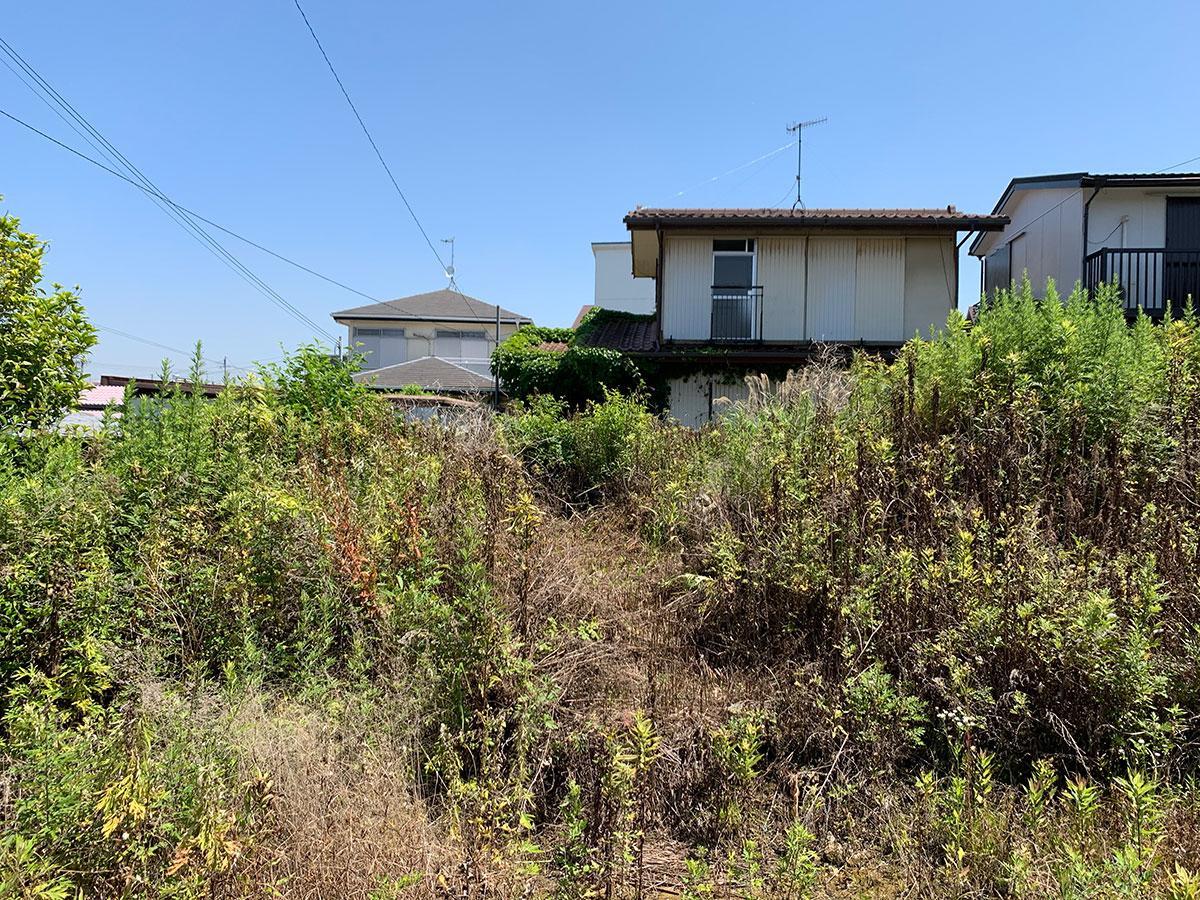 手前の空き地(庭)も家屋もセット、さらに奥にもあります。