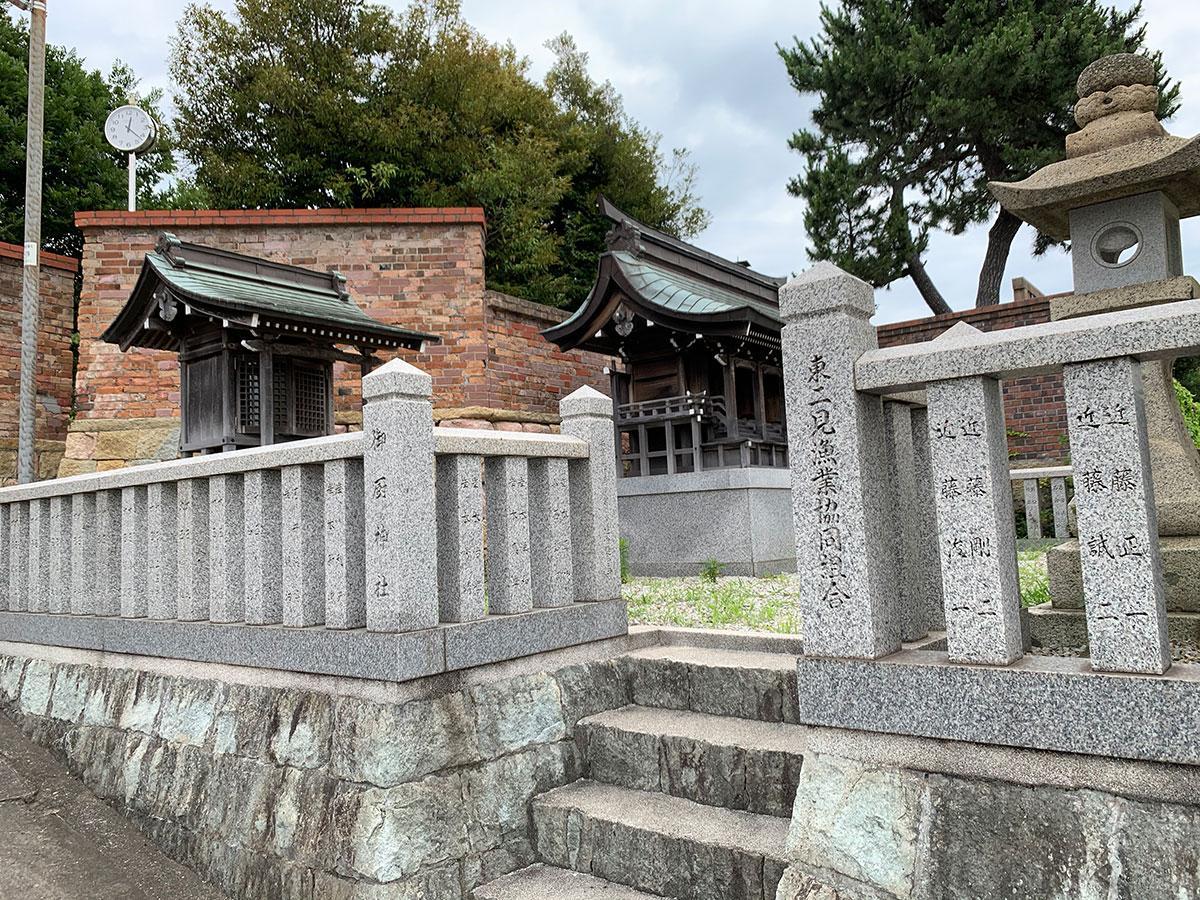 お寺が点在するエリア