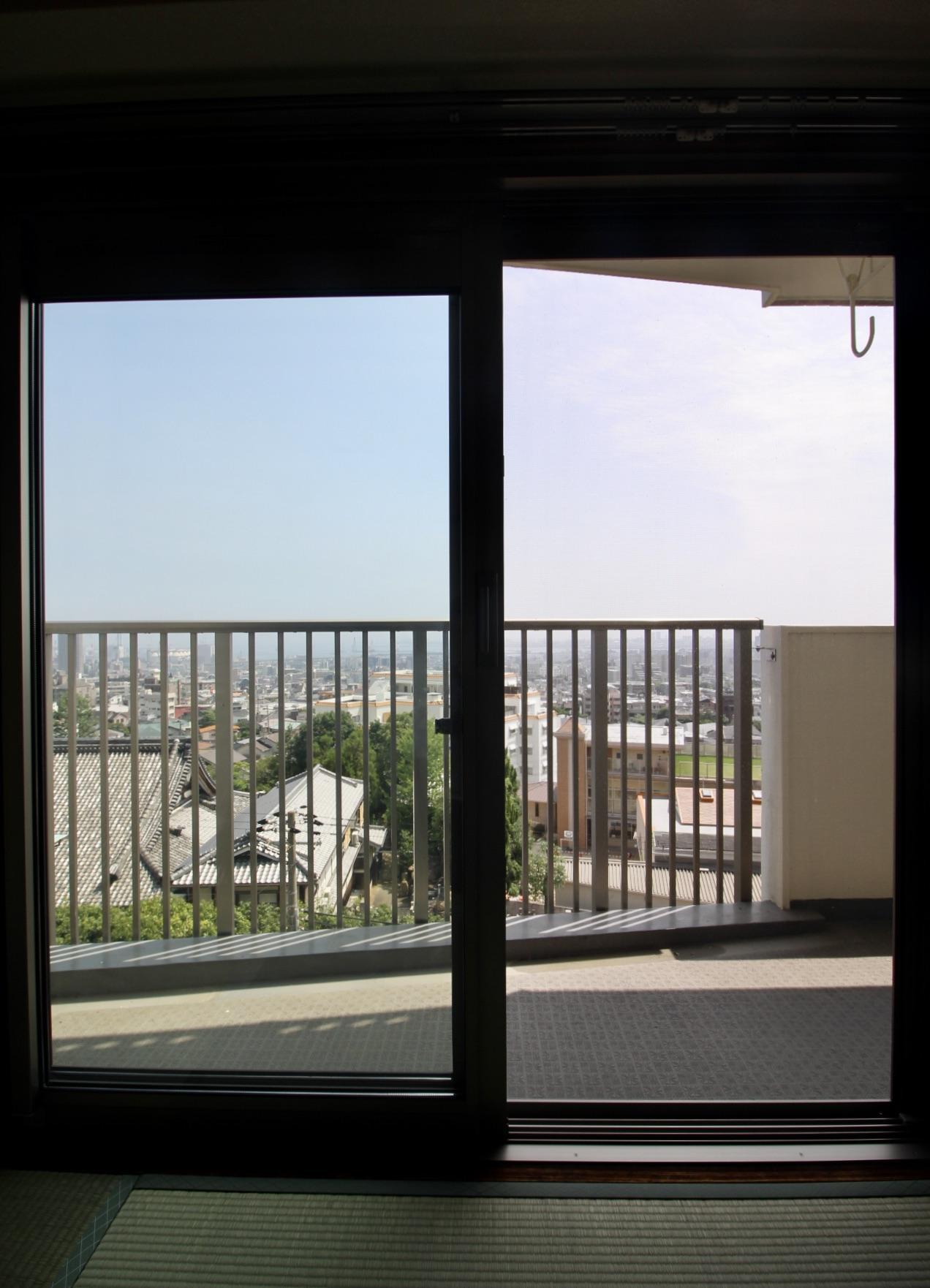 南東側和室からの眺め