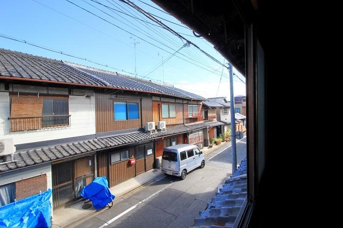 2階から見る前面道路