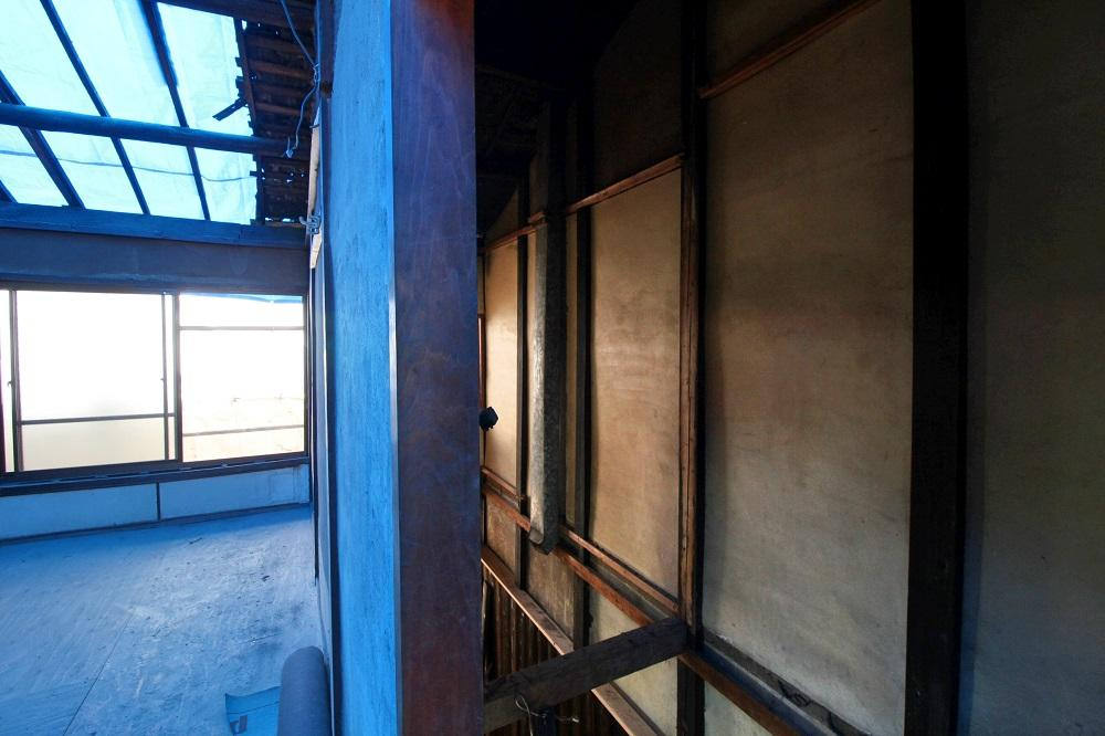 2階からの火袋部分(アトリエへの通路になります)