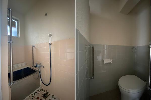 お風呂とトイレはレトロな造り