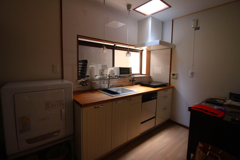 キッチンも使いやすく改装済み。