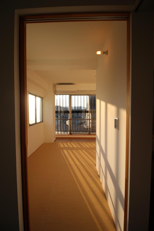 寝室への入り口。(4F)