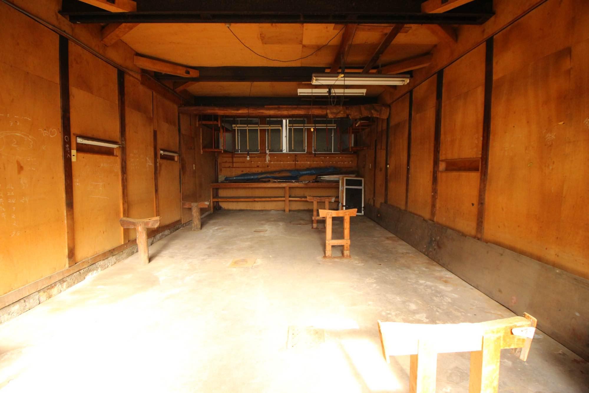 作業場1階正面。