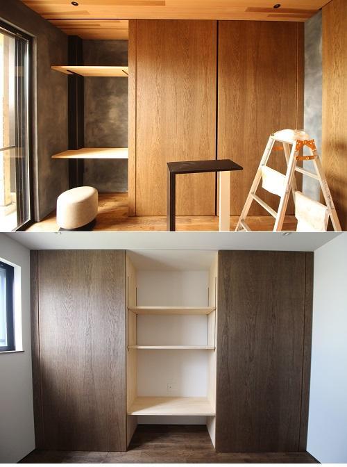 上が1階、下が3階の収納