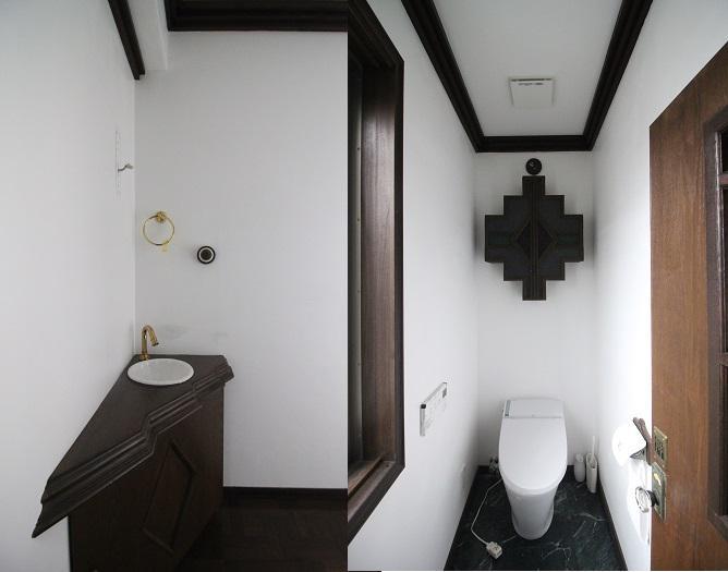 2階のトイレと廊下にある手洗い