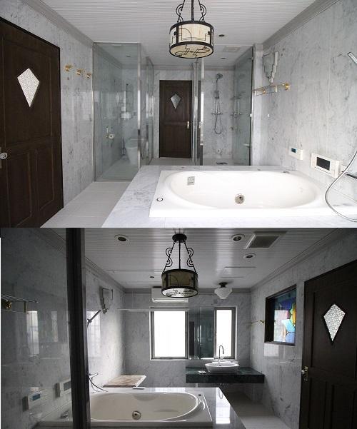 上の写真の左がトイレ、右はシャワールーム