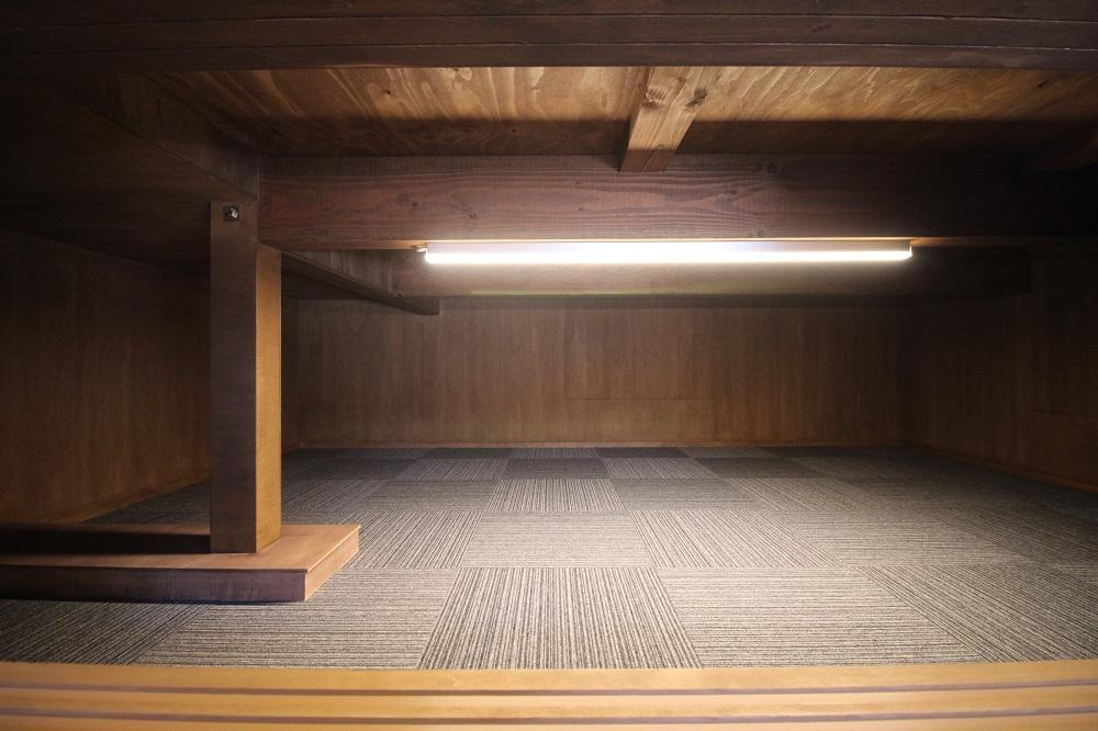 床下収納。この収納は助かりそう。