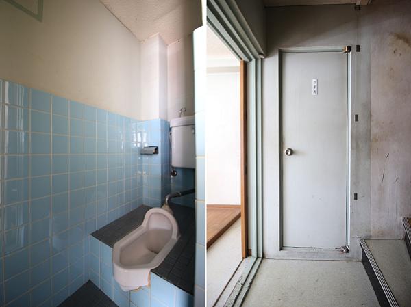 2階に上がったところにトイレです