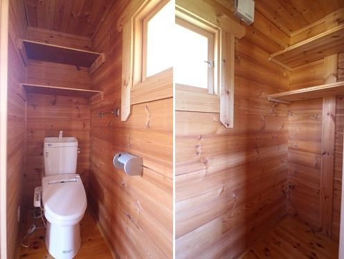 トイレは広めで物置にも使えそう