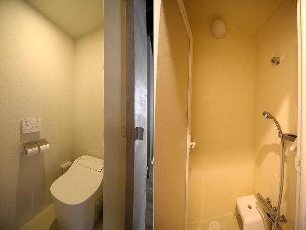 このトイレが使えます。シャワーは居住者専用