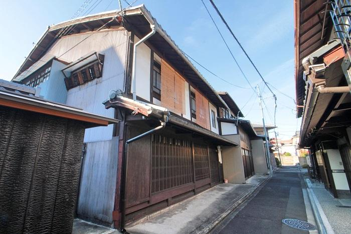 正面から。立派な京町家です