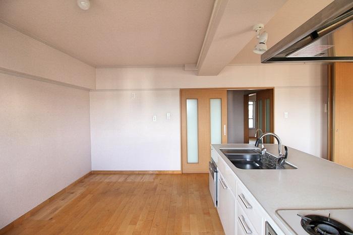 キッチン背面には十分なスペースが残ります
