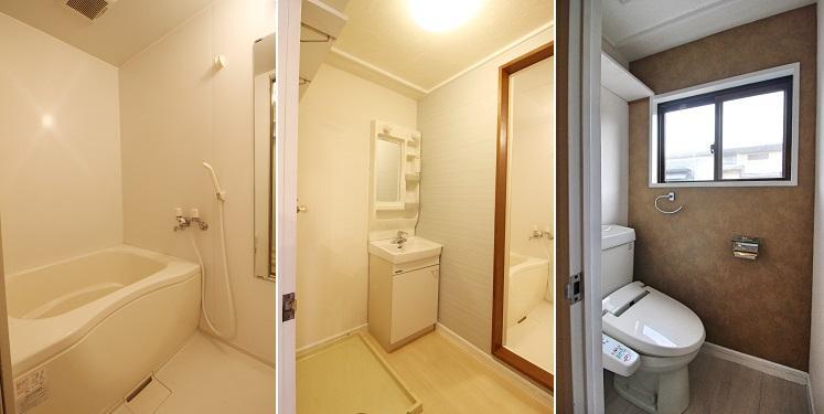 窓が大きく気持ち良いトイレ