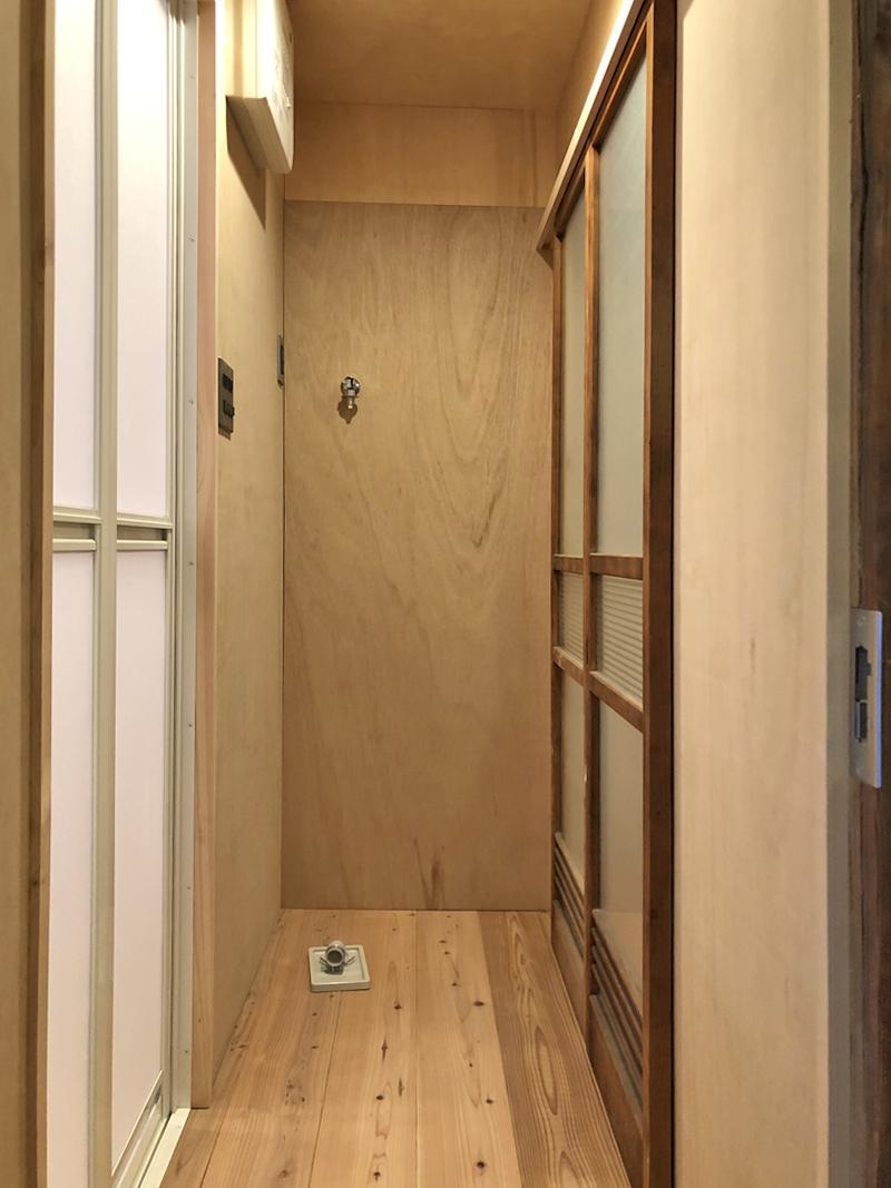 脱衣所と室内洗濯機置き場は少し幅が狭めなので注意です。