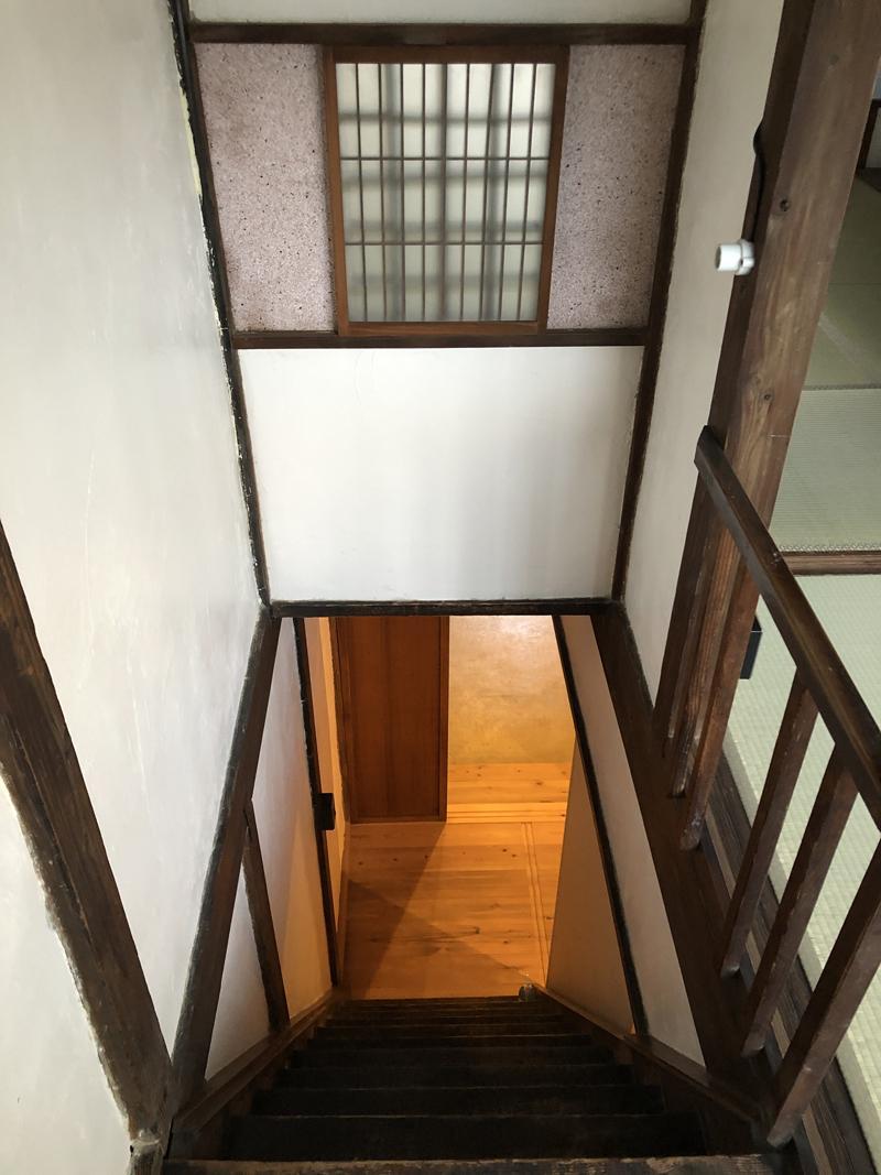 緩やかではないことを毎日念頭に置いて上り下りするべき階段