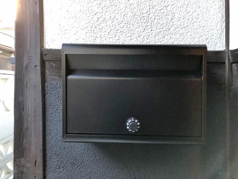 郵便受けも大きく・ダイヤル錠付になりました