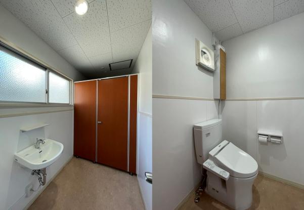 共用の女性トイレ(4階)。こちらも改装済み