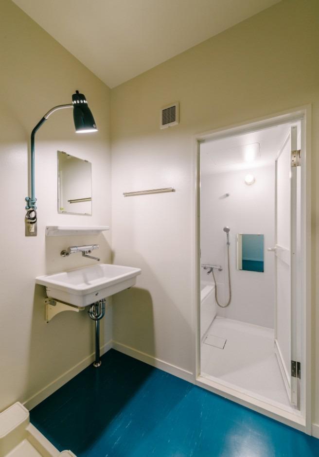 洗面&浴室、洗濯機もここに