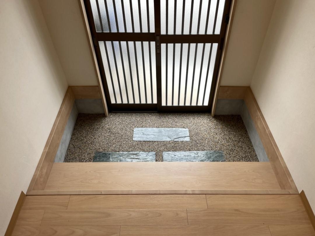 上がり框のある玄関もゆとりがあります