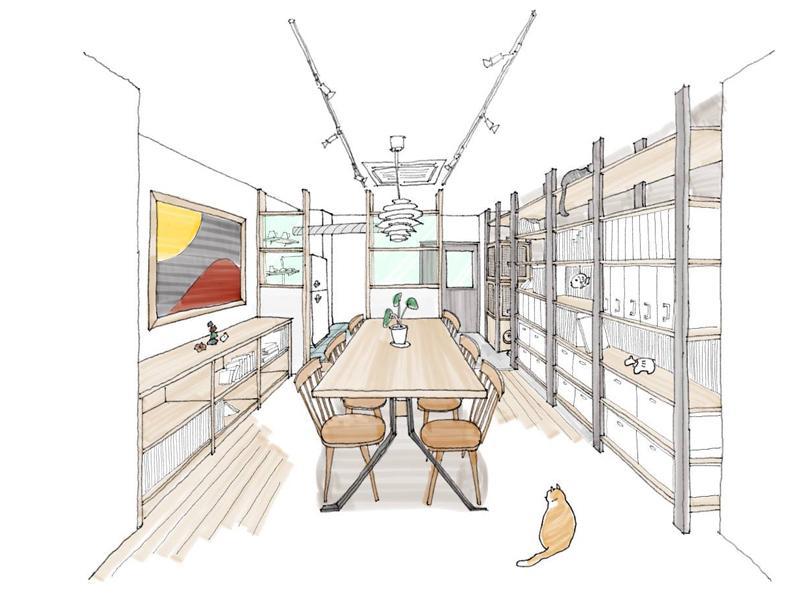 共用スペースは猫が管理(イメージ)